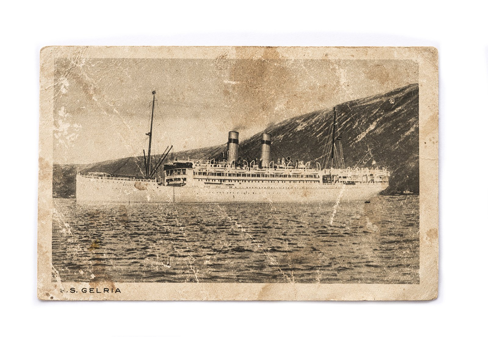 "The ship ""S.S Gelria"" which was offering emigration voyages from Amsterdam to Buenos Aires from 1913. As there was no passenger port in Poland at this time, lot of emigrants were living among other places through Amsterdam. 