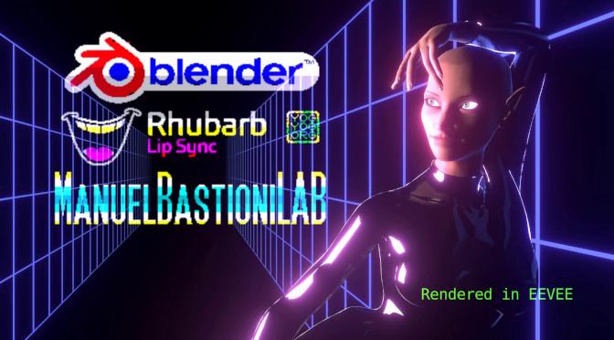Manuel Bastioni LAB, Rhubarb Lipsync + Blender Tutorial
