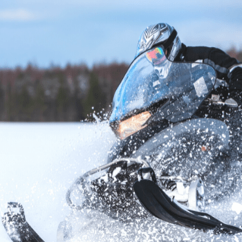 snowmobiling in rocky mountains