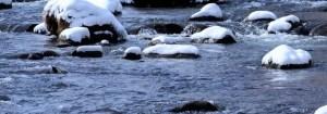 川の石拾い