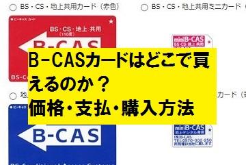 B-CASカードの価格・支払・購入方法|どこで買えるのか?実際の申し込み手順