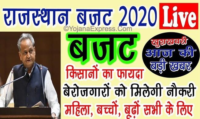 Rajasthan Budget 2020