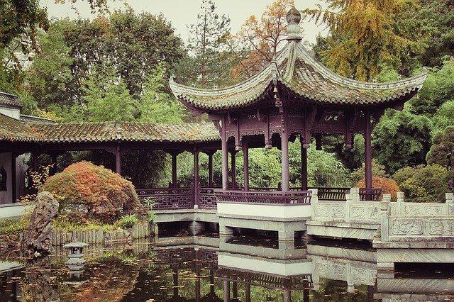 中国の朝の公園