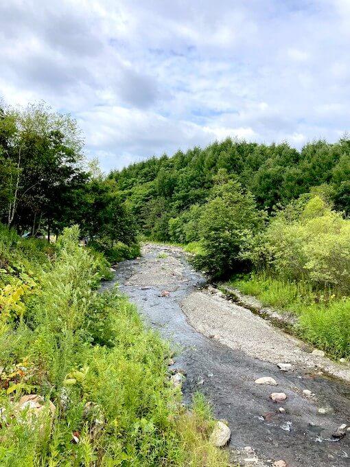会場は川のすぐ側。命の水が流れる