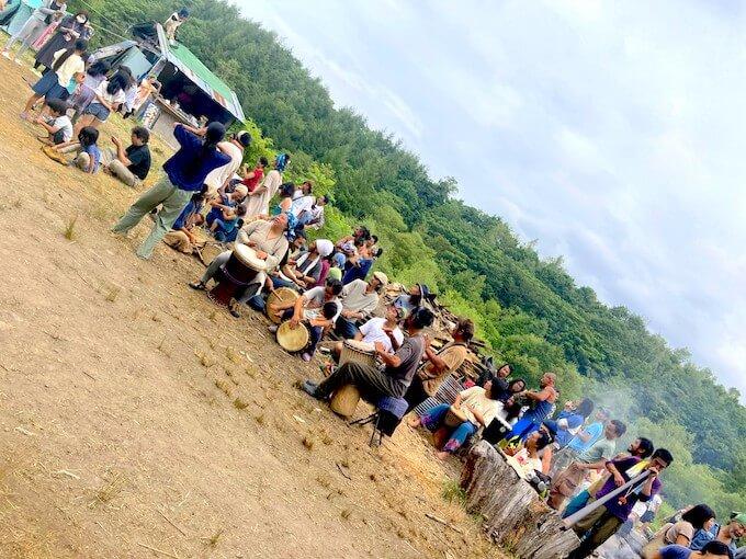 太鼓隊が運動会をまた盛り上げる