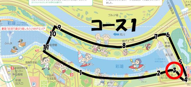 彩湖周回コース1-3