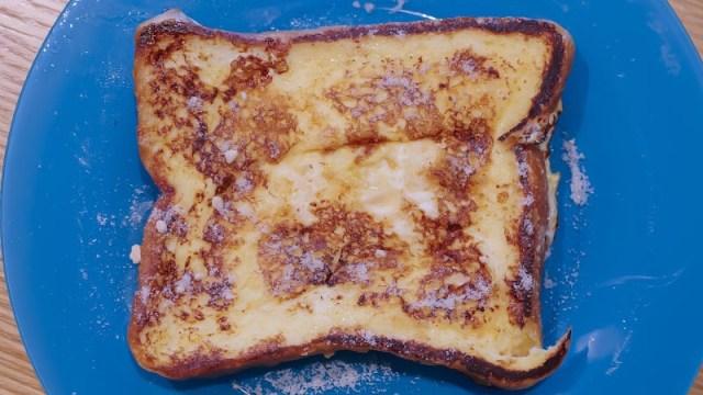 完成したフレンチトーストの写真