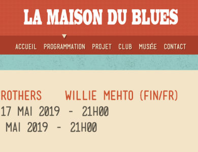 17 et 19 Mai:  LITTLE WILLIE METHO & YOKATTA BROTHERS @ Musée du Blues (Fr)
