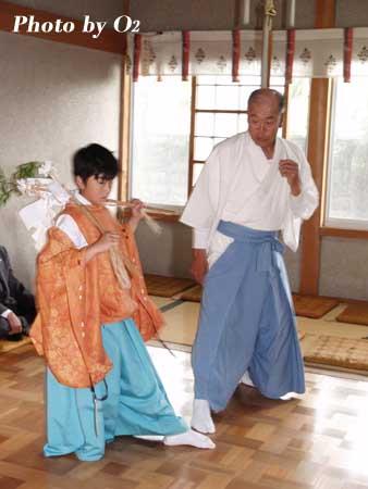 清部八幡神社 清部松前神楽保存会 2006