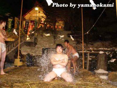 北海道 木古内町 寒中みそぎ 行修者 水ごり体験 2007 平成19年