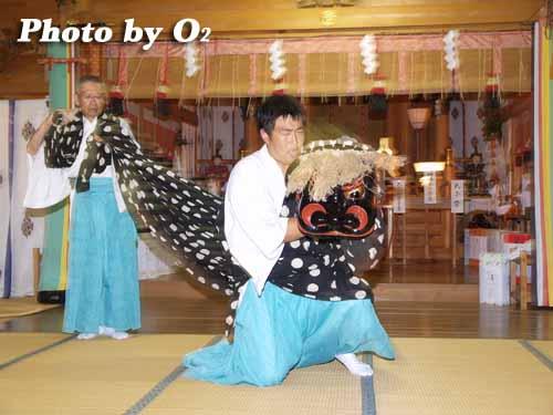 H19 福島大神宮 渡御祭 松前神楽 十二の手獅子舞 五方