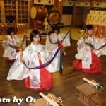 平成19年 湯倉神社 浦安の舞 練習風景 拝殿3