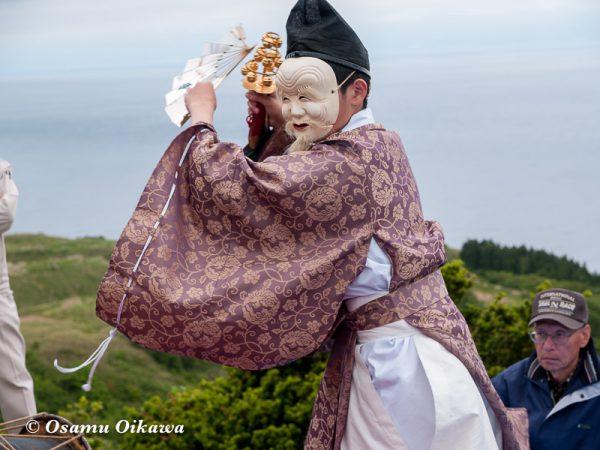 平成20年 上ノ国町 夷王山神社本祭 神楽舞 白面