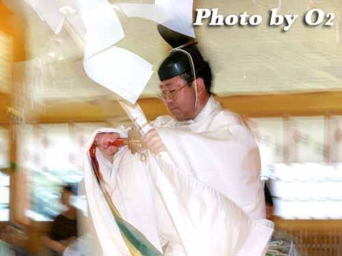 平成20年 北海道 鹿部町 鹿部稲荷神社宵宮祭 松前神楽 幣帛舞