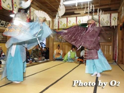 平成20年 函館市 尻岸内八幡神社 松前神楽 二羽散米舞