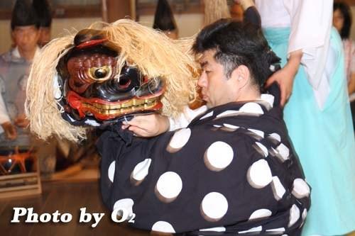 平成20年 函館市 豊川稲荷神社本祭 松前神楽 十二の手獅子舞・五方