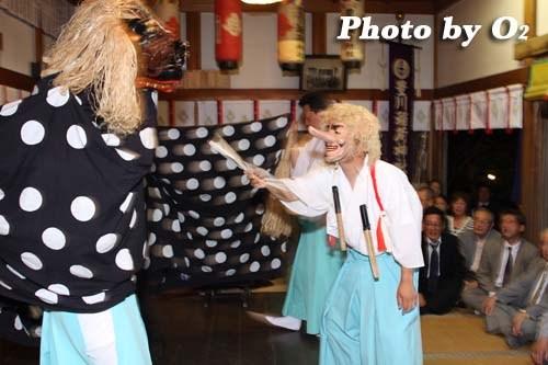 平成20年 函館市 豊川稲荷神社本祭 松前神楽 十二の手獅子舞・面足獅子