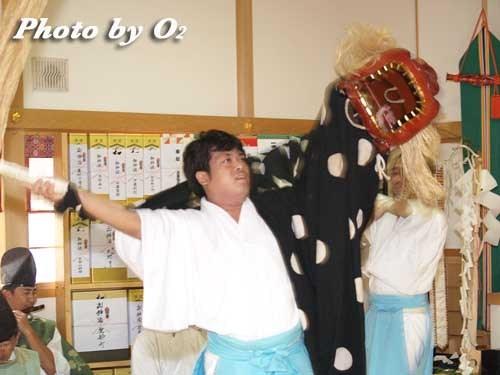 平成20年 鹿部町 本別稲荷神社 松前神楽 十二の手獅子舞・五方