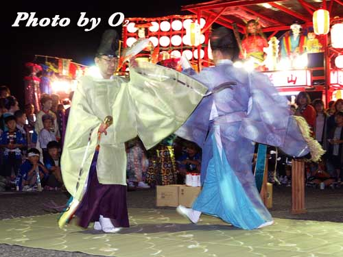 せたな町 事比羅神社 宵宮祭 松前神楽 利生舞