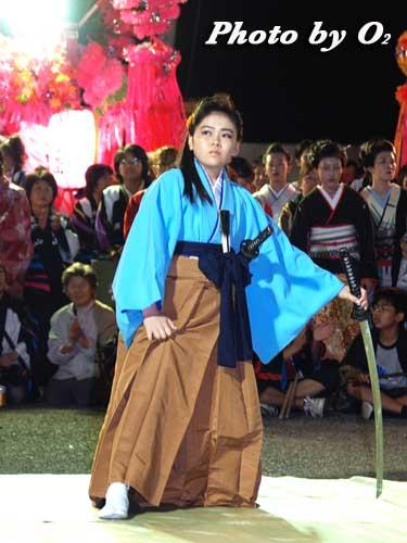 せたな町 事比羅神社 宵宮祭 山車 舞の披露