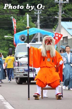 平成21年 古平町 琴平神社例祭 神社行列 座る猿田彦