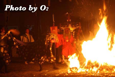 平成21年 古平町 琴平神社例祭 猿田彦と炎
