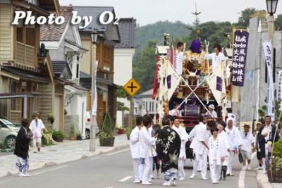 北海道,江差町,姥神大神宮渡御祭,山車,祭り,北海道遺産,平成21年,2009