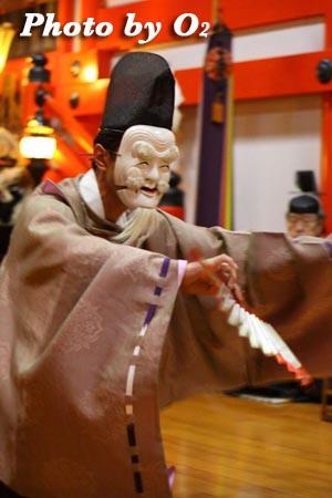 平成21年 函館市 大森稲荷神社 本祭 松前神楽 翁舞