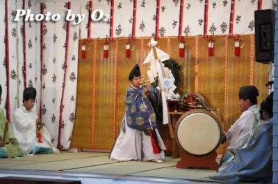 北海道 札幌 札幌村神社 神楽舞 御幣舞
