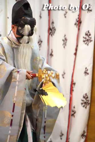 北海道 札幌 札幌村神社 神楽舞 三番叟