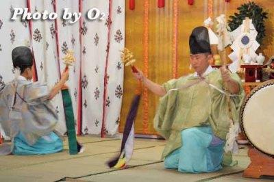 北海道 札幌 札幌村神社 神楽舞 神遊舞