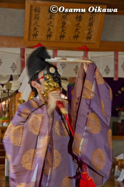 松前町 清部八幡神社 松前神楽 三番叟舞 2013