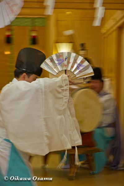 札幌村神社 2013 宵宮祭 神楽舞 千歳舞