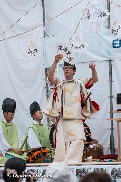 平成28年 白符大神宮 創建350年 記念大祭 松前神楽 注連祓舞