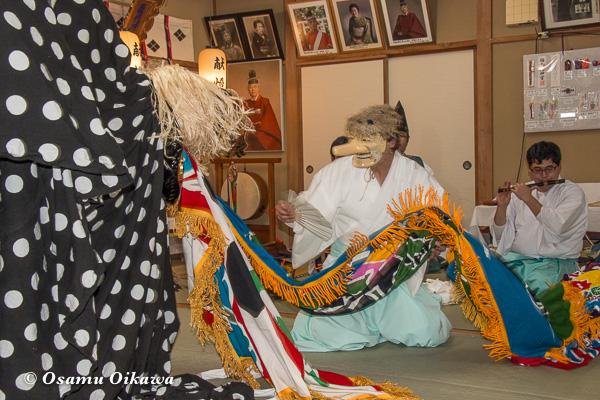 平成29年 福島町 船魂祭 松前神楽 十二の手獅子舞・面足獅子