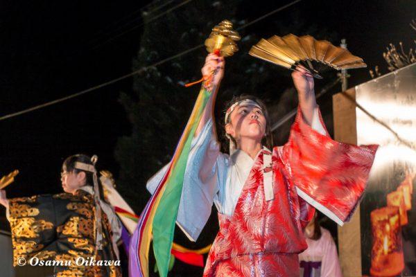 平成30年 木古内町 佐女川神社 寒中みそぎ祭 14日 舞台 みそぎの舞