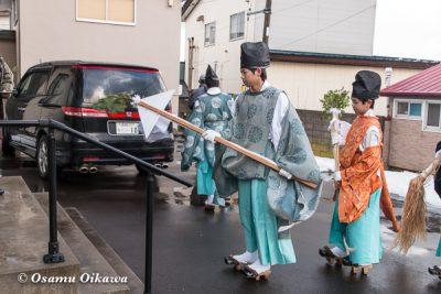 平成30年 松前町 清部八幡神社 門祓い 御幣