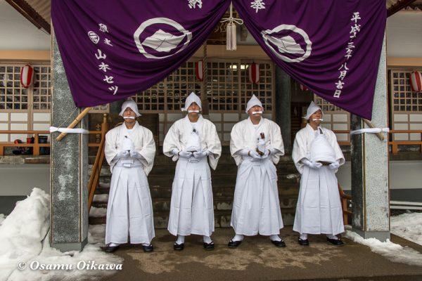 平成30年 木古内町 佐女川神社 寒中みそぎ祭 15日 津軽海峡へ