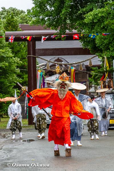 平成30年 美国町 美国神社 例大祭 神社から出る猿田彦