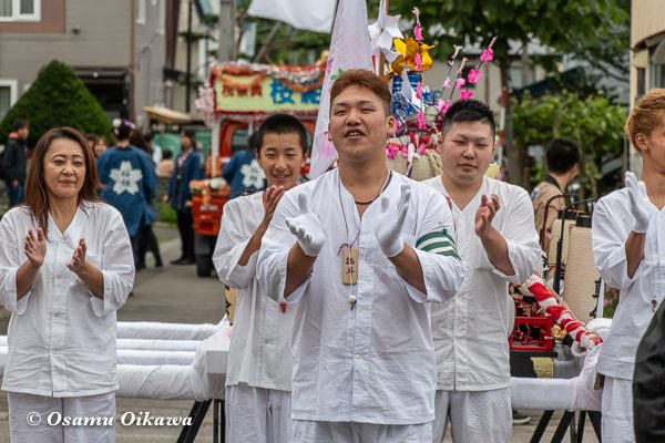 平成30年 美国町 美国神社 例大祭 2日目 神輿 祝い
