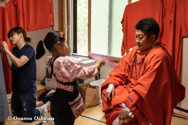 平成30年 古平町 琴平神社 例大祭 宵宮祭 猿田彦 準備