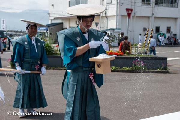 平成30年 古平町 琴平神社 例大祭 渡御祭 行列 塩打