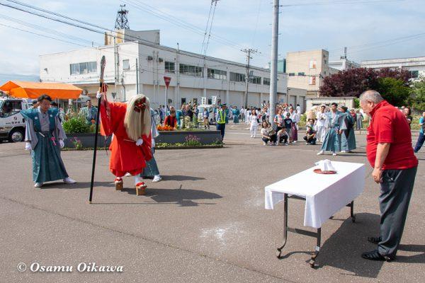 平成30年 古平町 琴平神社 例大祭 渡御祭 猿田彦 献酒所