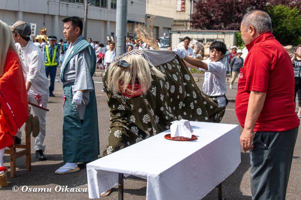 平成30年 古平町 琴平神社 例大祭 渡御祭 獅子舞