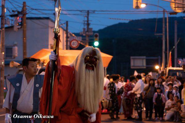 平成30年 古平町 琴平神社 例大祭 渡御祭 猿田彦 夕方の渡御