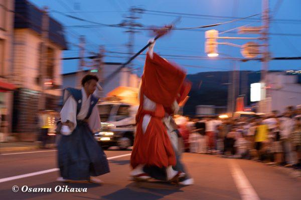 平成30年 古平町 琴平神社 例大祭 渡御祭 猿田彦 夕方の渡御02