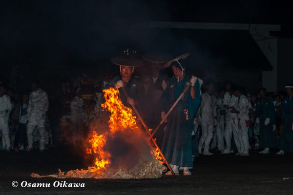 平成30年 古平町 琴平神社例大祭 二日目 渡御祭 点火