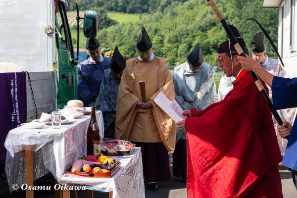 平成30年 美瑛町 美瑛神社渡御祭 御旅所 祝詞