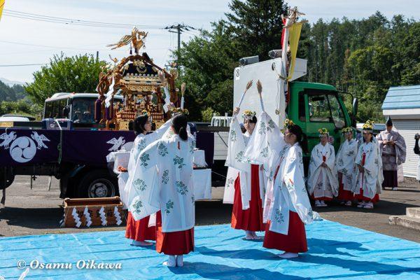 平成30年 美瑛町 美瑛神社渡御祭 御旅所 豊栄の舞
