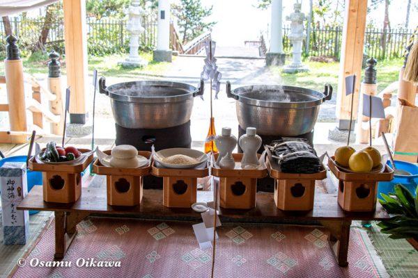 平成30年 函館市 戸井地区 宮川神社 本祭 鎮釜湯立式 祭壇